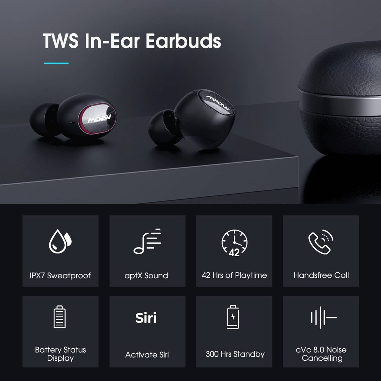 Wireless Earbuds for Android/Windows/iOS Earphones & Headphones 1ef722433d607dd9d2b8b7: Ships from China Ships from USA