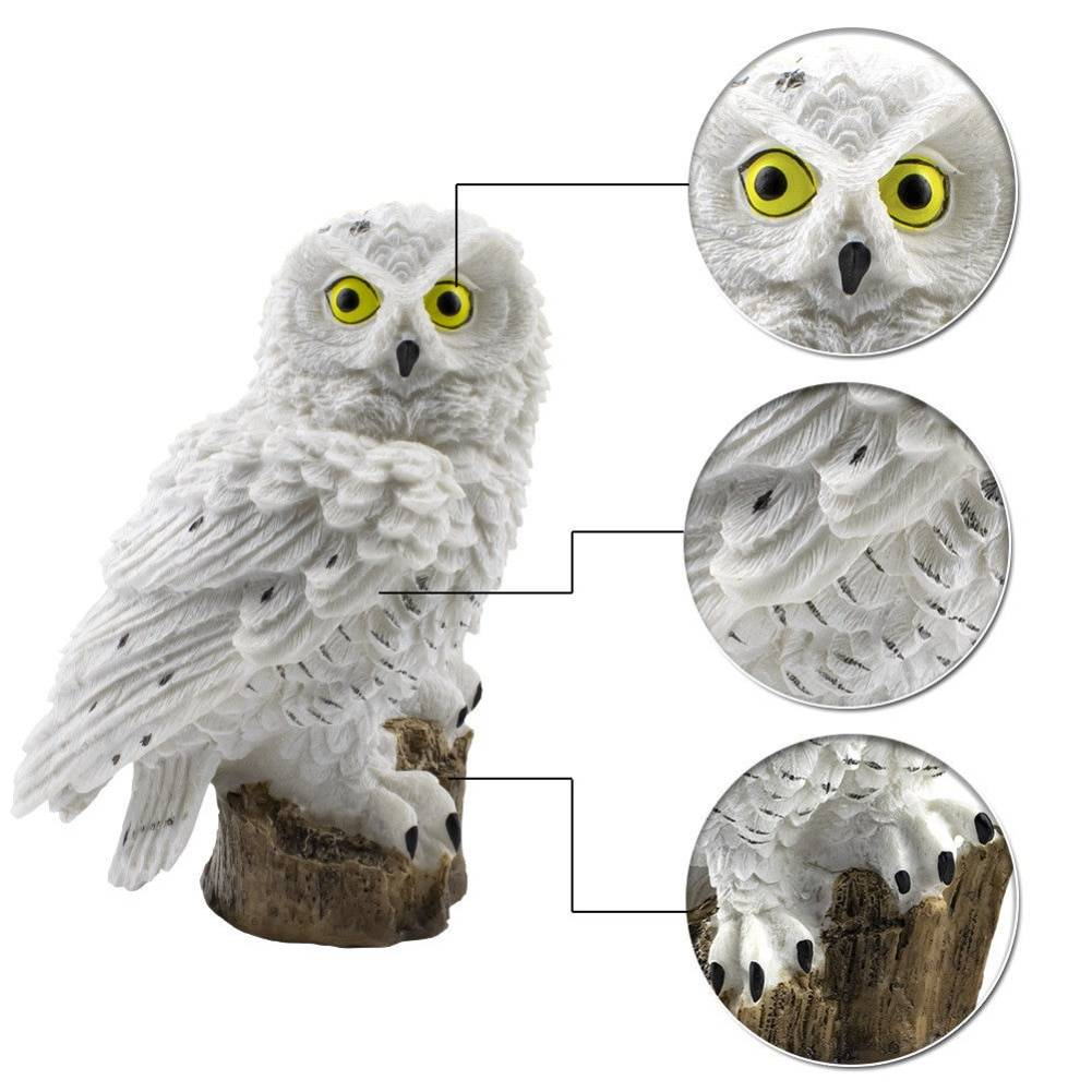 Owl Shaped Solar Garden Lamp Lighting Fixtures & Accessories cb5feb1b7314637725a2e7: Brown|White