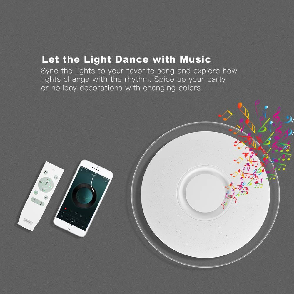 Smart Round Metal Ceiling Light Lighting Fixtures & Accessories e607d9e6b78b13fd6f4f82: 380 music color36W|380 WIFI music 36W|450 music color 36W|450 WIFI music 36W|480 music color 52W|480 WIFI music 52W|550 music color 52W|550 WIFI music 52W