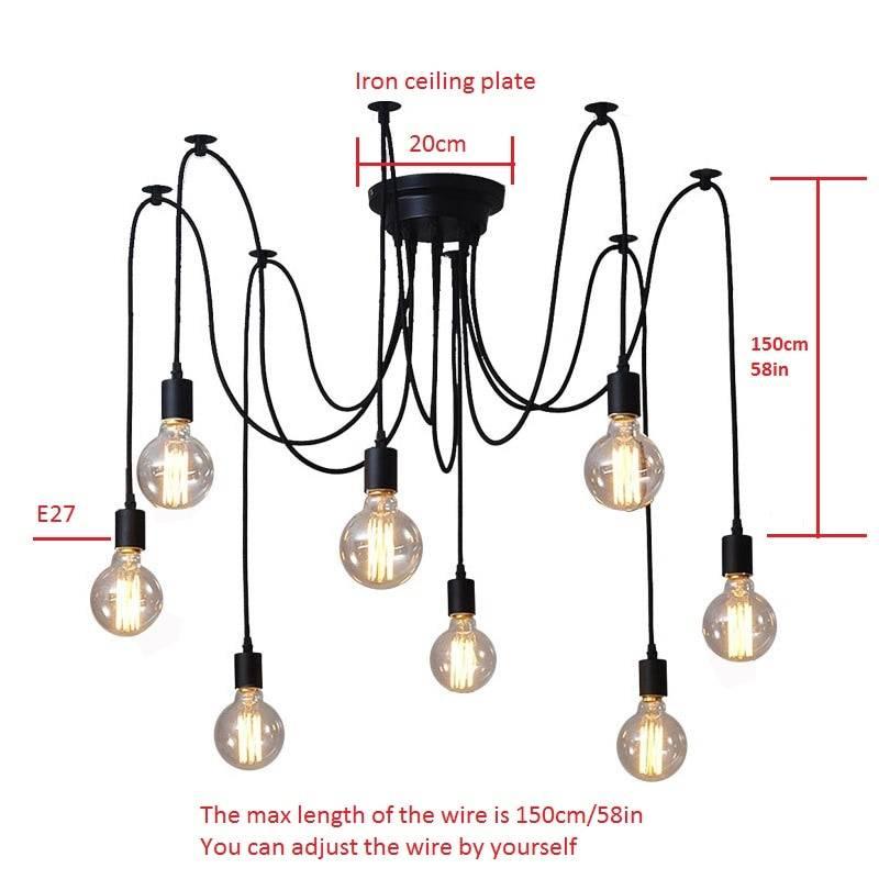 Loft Style Spider Ceiling Lighting Lighting Fixtures & Accessories e607d9e6b78b13fd6f4f82: 10 heads 12 heads 14 heads 5 heads 6 heads 8 heads