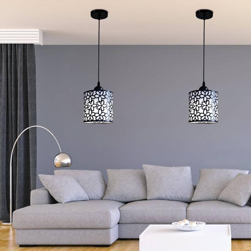 Nordic Style Floral Lace LED Pendant Lighting Lighting Fixtures & Accessories e607d9e6b78b13fd6f4f82: Black 1 Light Round|Black 3 Light Round|Black 3 Lights Long|White 1 Light Round|White 3 Light Round|White 3 Lights Long