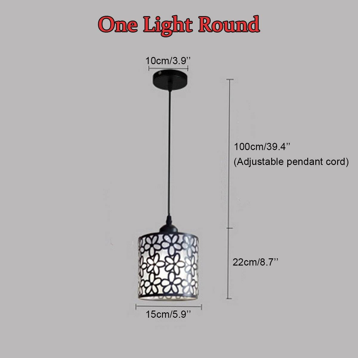 Nordic Style Floral Lace LED Pendant Lighting
