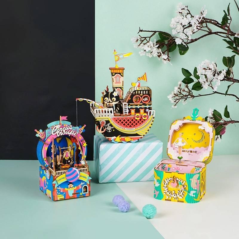 DIY 3D Wooden Puzzle Magic Cubes & Puzzles cb5feb1b7314637725a2e7: Amusement Park|Dancing Ballerma|Fishing Kitty|Little Performer|Moving Flavor|Oceam Park