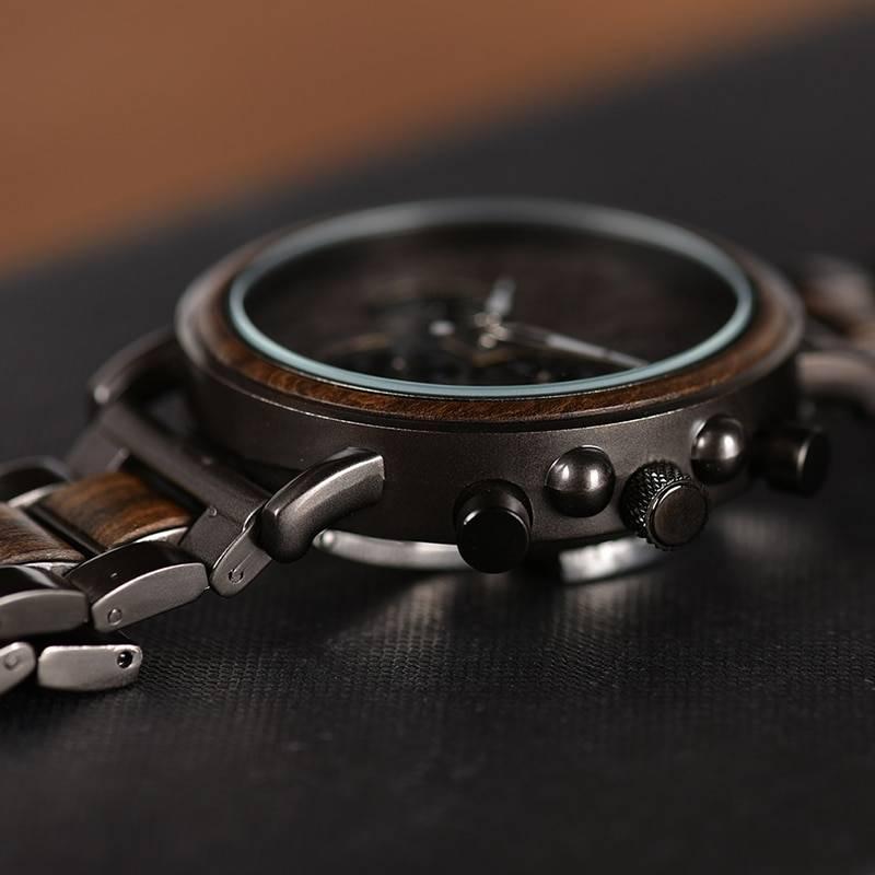 Men's Wooden Stylish Quartz Watch