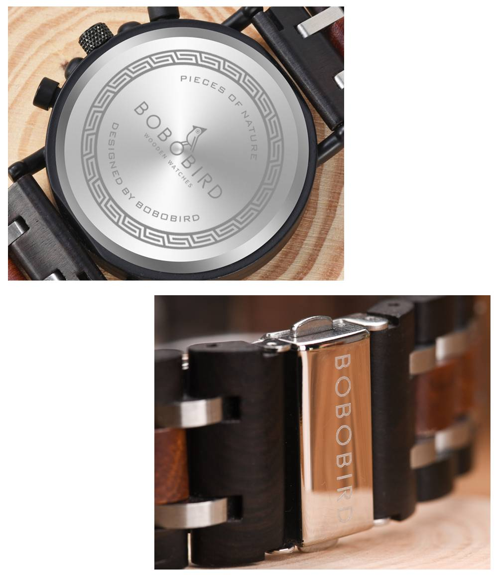 Men Mechanical Wooden Watch