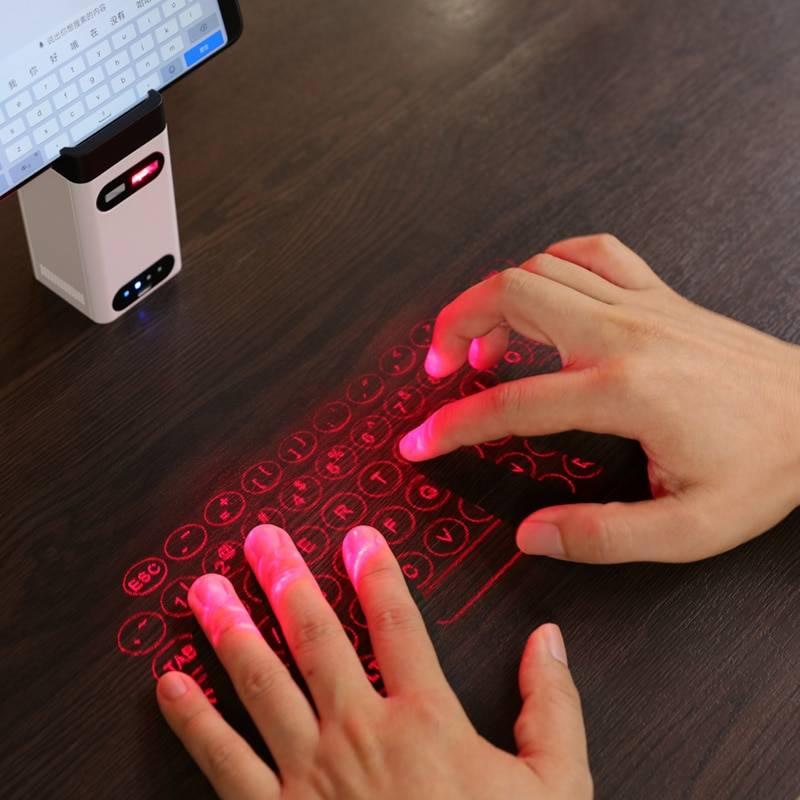 Wireless Bluetooth Virtual Keyboard Wireless Gadgets cb5feb1b7314637725a2e7: Black KB560 white M1
