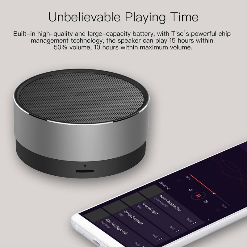 Mini Wireless Bluetooth Speaker Wireless Gadgets cb5feb1b7314637725a2e7: Space Gray