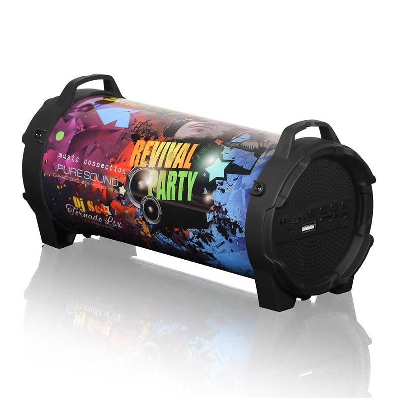 Drum Design Bluetooth Speaker with FM Radio Wireless Gadgets cb5feb1b7314637725a2e7: Black|Camouflage