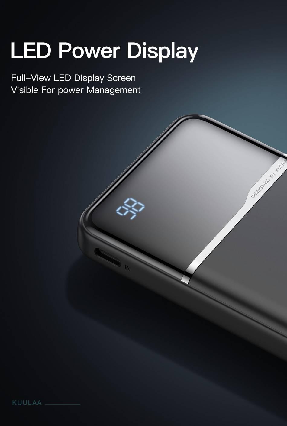 Portable Power Bank with Digital Display