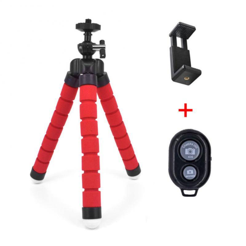 Octopus Shape Universal Bluetooth Tripod Phone Accessories cb5feb1b7314637725a2e7: Black|Blue|Red