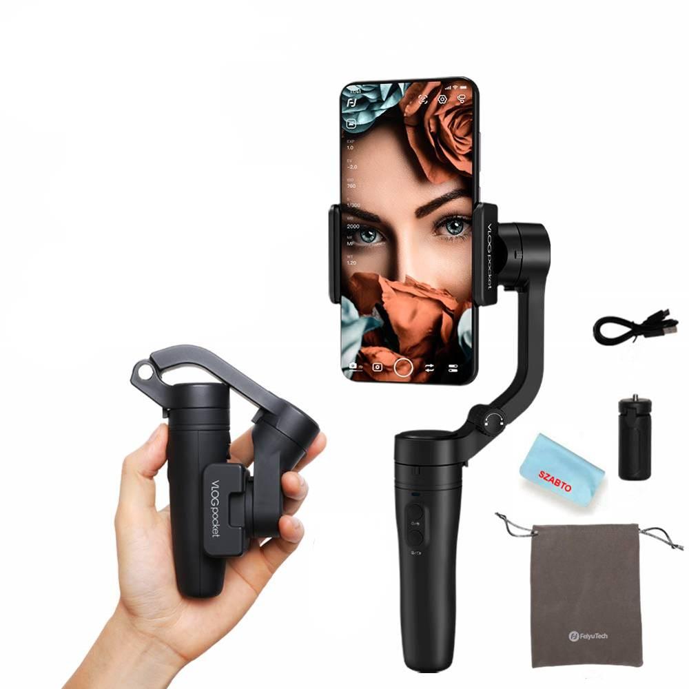 Pocket Sized Foldable Smartphone Gimbal Stabilizer