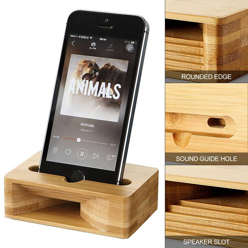 Universal Mobile Phone Sound Amplifiers Phone Accessories cb5feb1b7314637725a2e7: Wooden