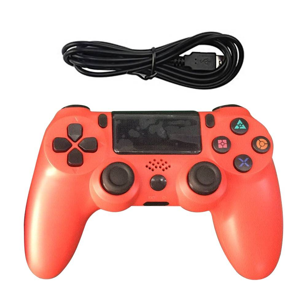 Colorful Bluetooth and USB Controller for PS4 Wireless Gadgets cb5feb1b7314637725a2e7: Army Green|Black|Blue|Color 5|Color 6|Gray|Green|Pink|Red|White