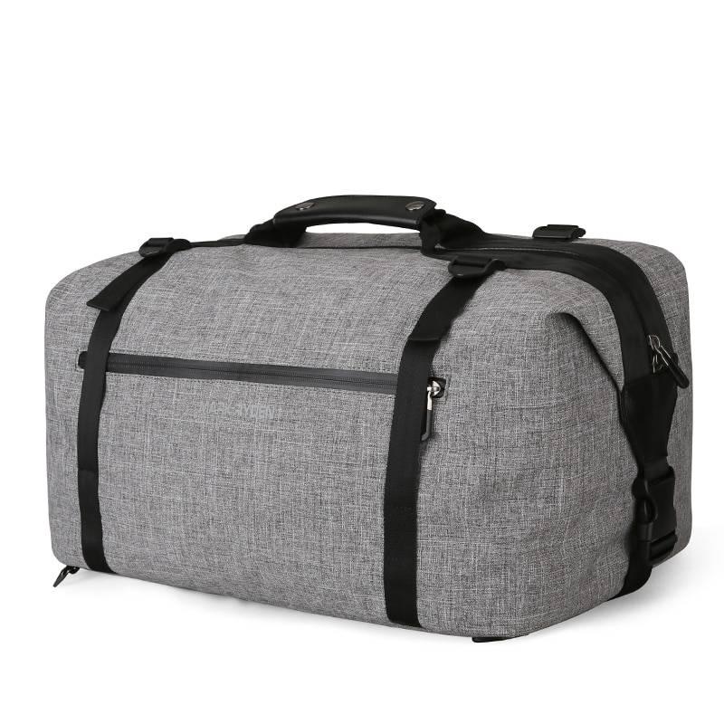 Stylish Waterproof Travel Bag Camping Bags & Backpacks cb5feb1b7314637725a2e7: Black|Grey