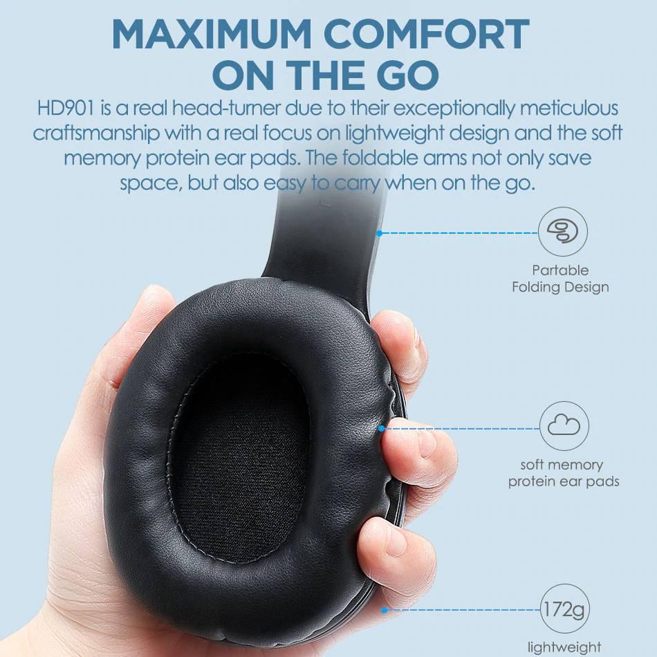 Bluetooth Headphones with Microphone Earphones & Headphones cb5feb1b7314637725a2e7: HD901