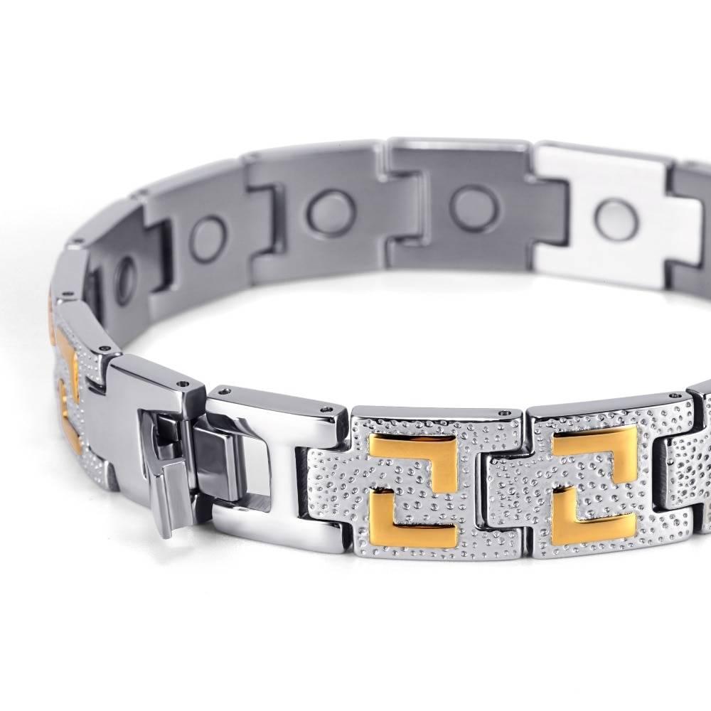 Men Silver Magnetic Bracelet Magnetic Jewelry 8d255f28538fbae46aeae7: Bracelet Bracelet with Adjust