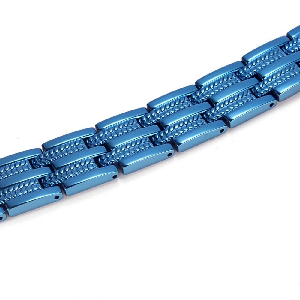 Men's Blue Magnetic Bracelet