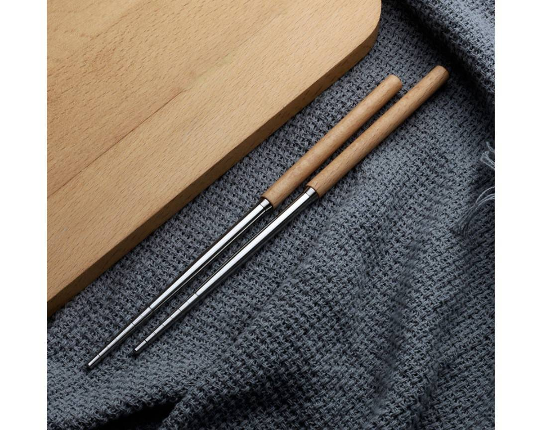 Wooden Handle 2/3/4 Pcs Cutlery Set
