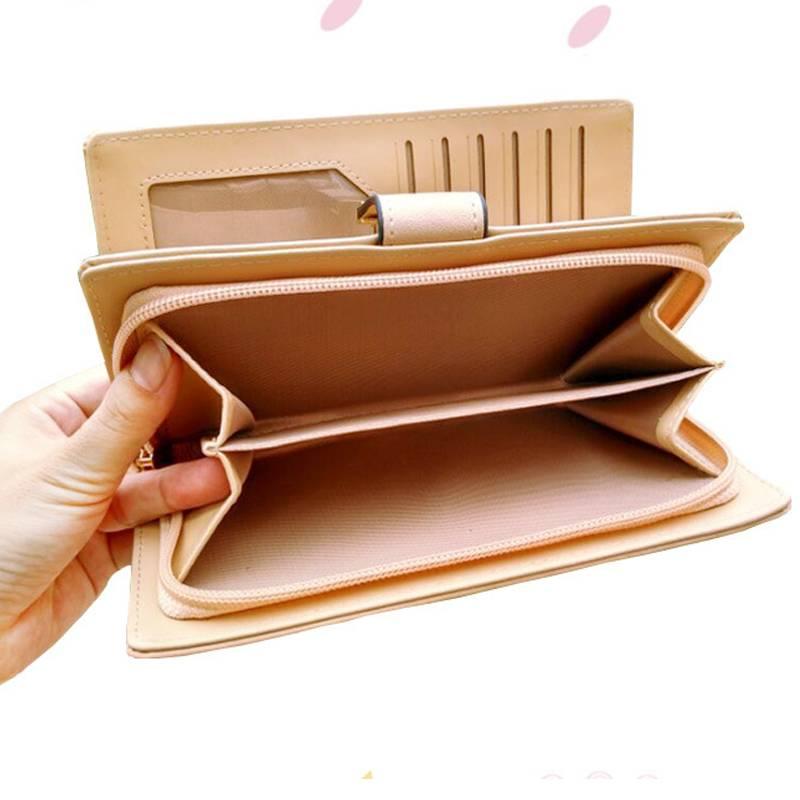 Women Leather Card Holder Purse Women Bags & Wallets cb5feb1b7314637725a2e7: Black Blue Brown Khaki Pink