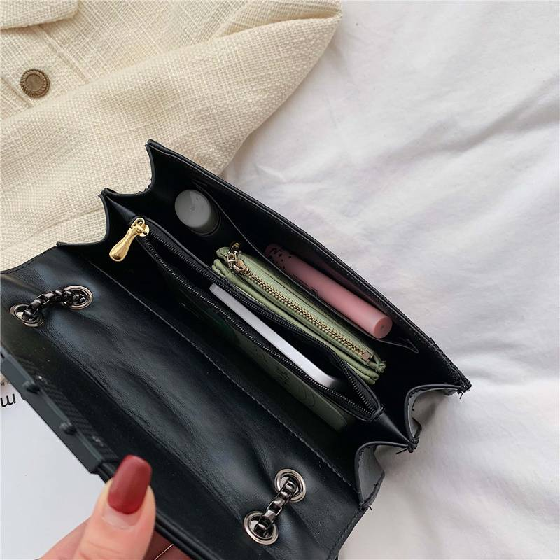 Women Small Bag with Chain Women Bags & Wallets cb5feb1b7314637725a2e7: Black Brown Burgundy coffee