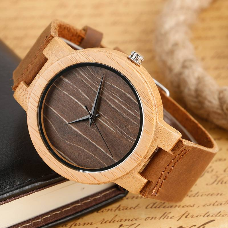 Minimalistic Unisex Wooden Watches Wooden Watches cb5feb1b7314637725a2e7: Black Dial|Brown Dial|Coffee Dial