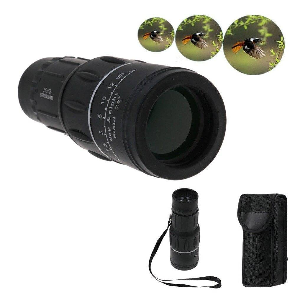 Compact Night Vision Monocular Telescope Binoculars & Optics Magnification: 16X