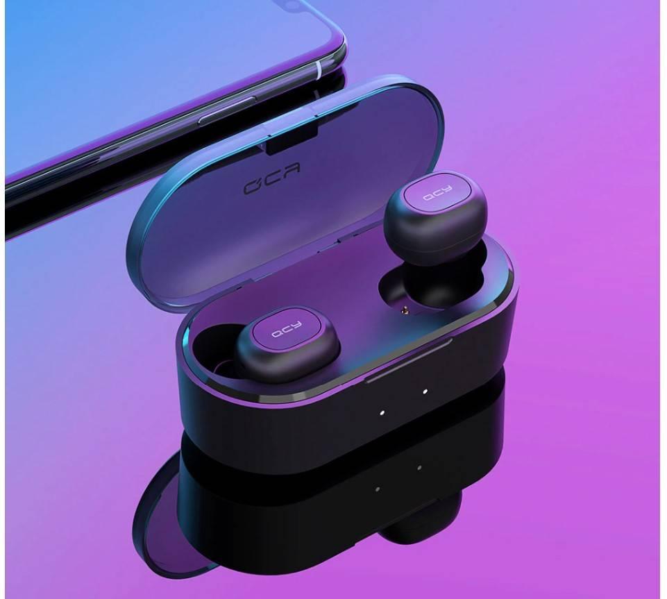 Dual Microphone Bluetooth Earphones with Charging Box Earphones & Headphones cb5feb1b7314637725a2e7: Q-QS2-Black|Q-QS2-White