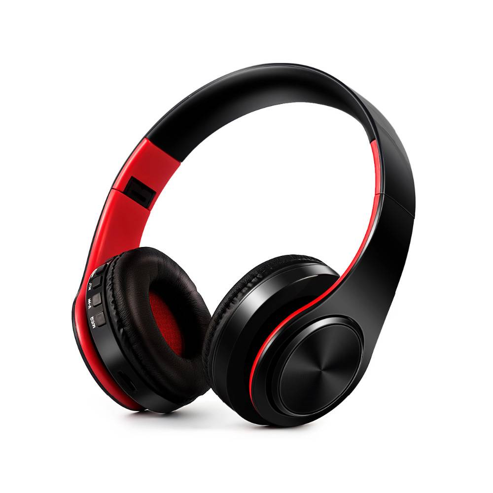 HiFi Stereo Bluetooth Headphones Earphones & Headphones cb5feb1b7314637725a2e7: Black / Red|Black Blue|Black Green|Black Orange|Black Rose|White Blue|White Green|White Orange|White Red