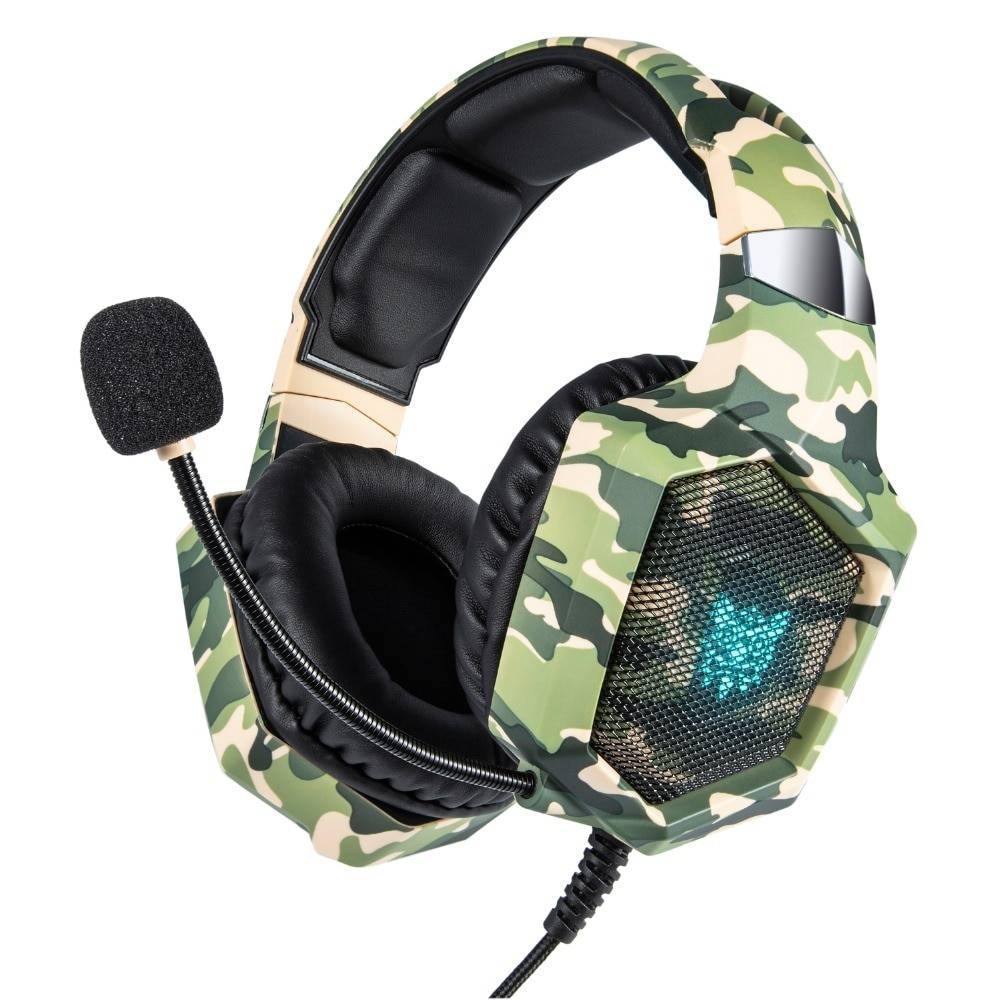 LED Camouflage Gaming Headset Earphones & Headphones Wireless Gadgets cb5feb1b7314637725a2e7: Grass With Box|Snow With Box