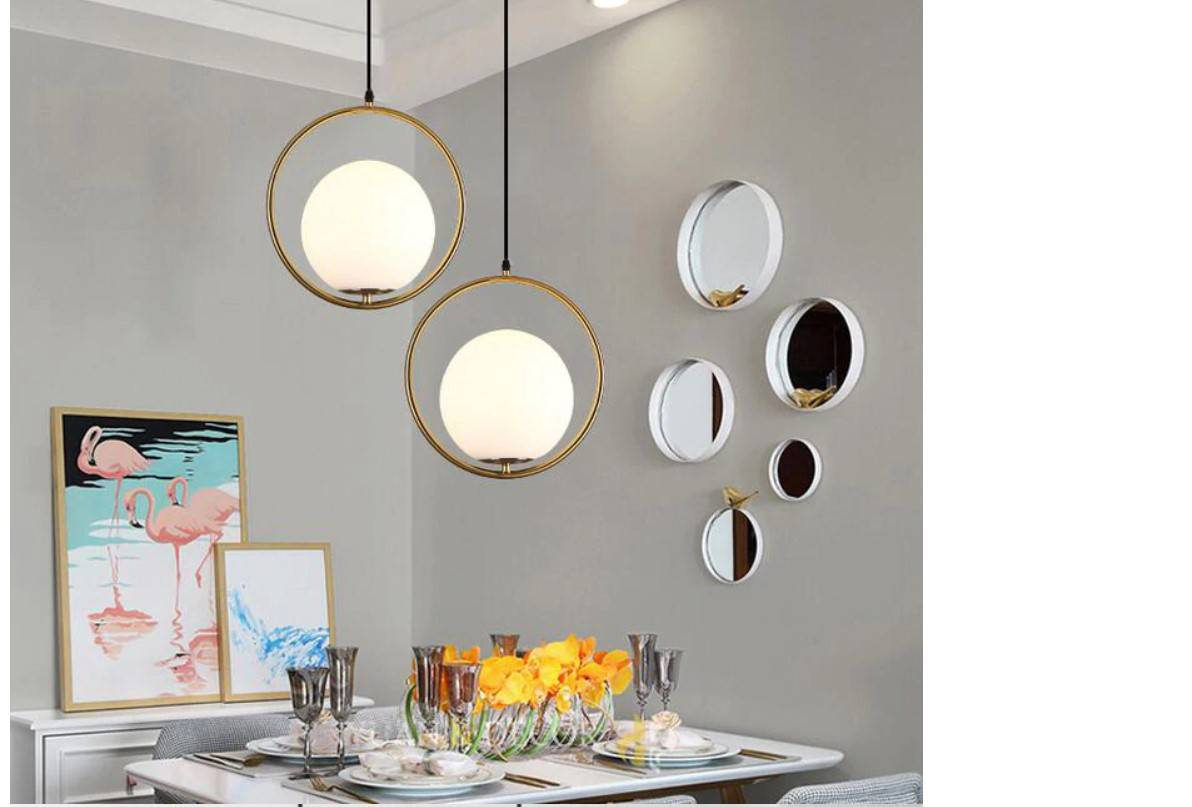 Nordic Style Metal Frame Pendant Lighting