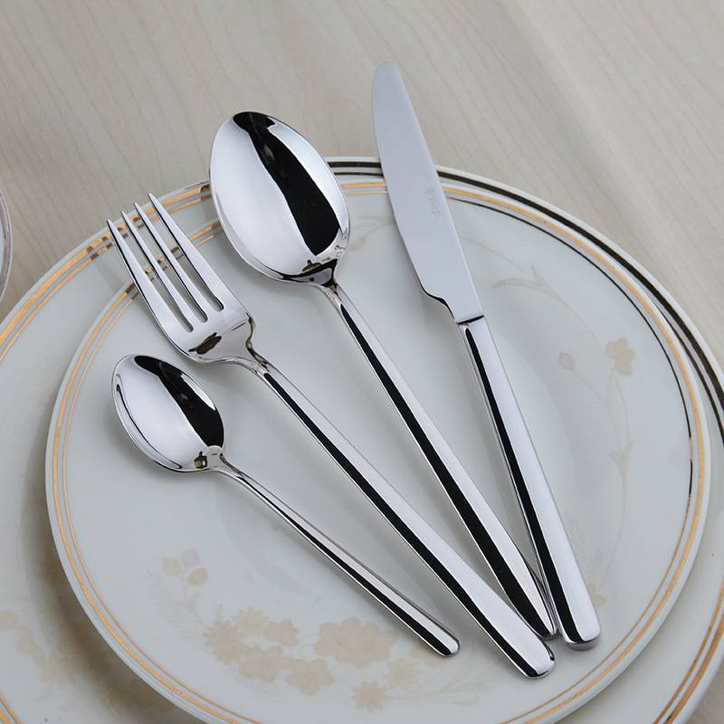Silver Stainless Steel Flatware Set Flatware & Cutlery Smart Home Security Systems 895ef33f68f150cfe6018d: Silver Color 24 Pcs