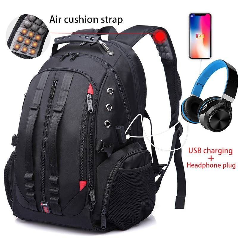 Travel Backpack USB Anti theft Camping Bags & Backpacks cb5feb1b7314637725a2e7: 1902black|1903black|BG1901-BLACKCOVER|Black