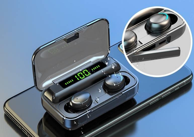 Trendy Waterproof Wireless Bluetooth Earphones Earphones & Headphones cb5feb1b7314637725a2e7: Blue|Grey|White|Without Box
