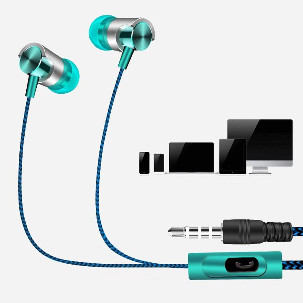 Universal 3.5mm In-Ear Stereo Earphones with Mic Earphones & Headphones cb5feb1b7314637725a2e7: Blue|Purple|Red|Silver|Yellow