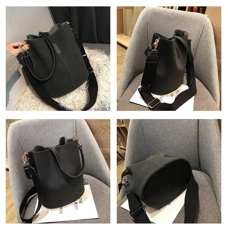 Women's Bucket Shoulder Bag Women Bags & Wallets cb5feb1b7314637725a2e7: Black Brown Gray