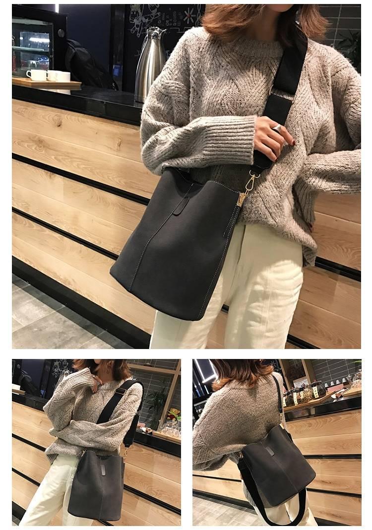 Women's Bucket Shoulder Bag