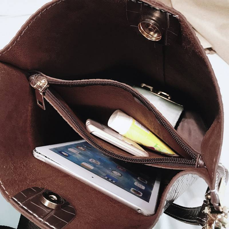 Women's Crocodile Crossbody Bag